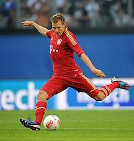 FUSSBALL   1. BUNDESLIGA   SAISON 2012/2013   LIGA TOTAL CUP  FC Bayern Muenchen - SV Werder Bremen       04.08.2012 Holger Badstuber (FC Bayern Muenchen)  Einzelaktion am Ball