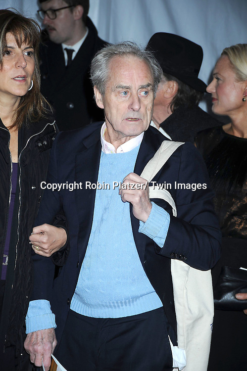 "Sir Harry Evans attending The New York Premiere of  the HBO Miniseries ""Mildred Pierce"" on March 21, 2011 at The Ziegfeld Theatre in New York City.  The movie stars Kate Winslet, Guy Pearce,  Evan Rachel Wood, Melissa Leo, Mare Winningham and James LeGros."