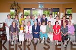 CLASS REUNION; Past pupils of Lixnaw Presentation School who came from all over Ireland for a Class Reunion at O'Donnell's restaurant and bar, Tralee on Friday seated l-r: Delia McAuliffe, Margaret Reidy, Maryanne O'Sullivan, Sr Ailbe Quirke, Margaret Quilter, Una Lynch, Mary Scanlon, Monica Costello and Nancy Sheehy. Back l-r: Delia Barry, Annmarie McElligott, Marian Fuller, Mary Byrne, Baby Leen, Mary Jo Leen, Betty Barry, Hannah Costello, Peg Horgan, Mary Sheehy and Mary McAuliffe.