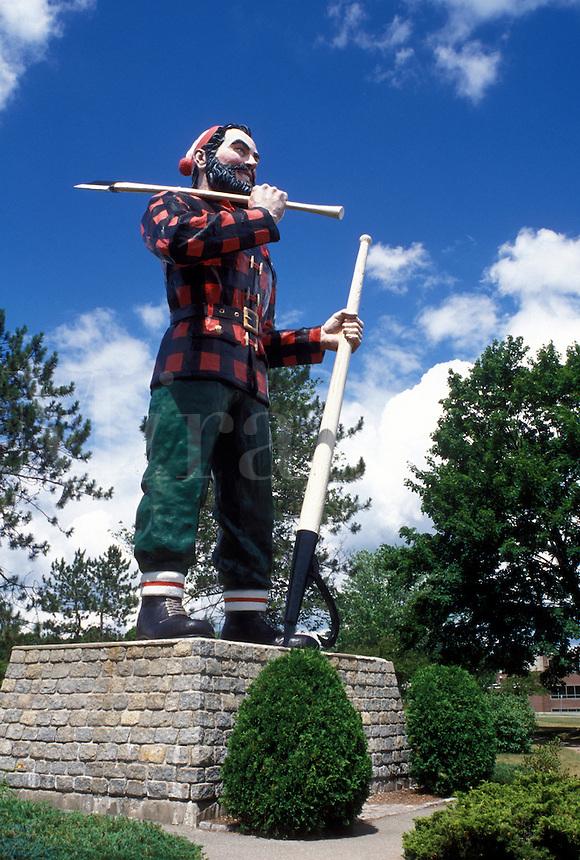 Paul Bunyan, Bangor, Maine, ME, A giant statue of Paul Bunyan in a park in Bangor.