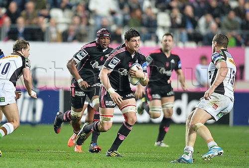 04.04.2014. Paris, France. Amlin Challenge Cup Rugby. Stade Francais versus Harlequins.  Nicolas Garrault (sf)