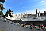 The lead group in action during Stage 21 of the 2018 Giro d'Italia, running 115km around the centre of Rome, Italy. 27th May 2018.<br /> Picture: LaPresse/Fabio Ferrari | Cyclefile<br /> <br /> <br /> All photos usage must carry mandatory copyright credit (&copy; Cyclefile | LaPresse/Fabio Ferrari)