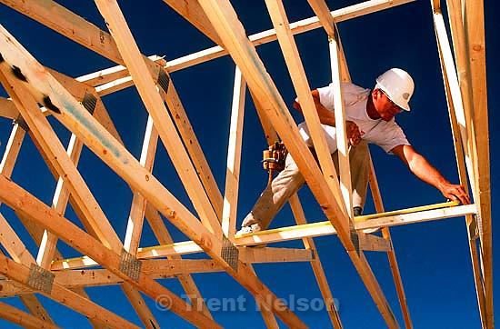 Volunteer helps build a Jehovah's Witness Temple, 1989.   &amp;#xA;<br />