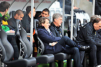 Pictured: Manchester City manager Roberto Mancini. <br /> Saturday 04 May 2013<br /> Re: Barclay's Premier League, Swansea City FC v Manchester City at the Liberty Stadium, south Wales.