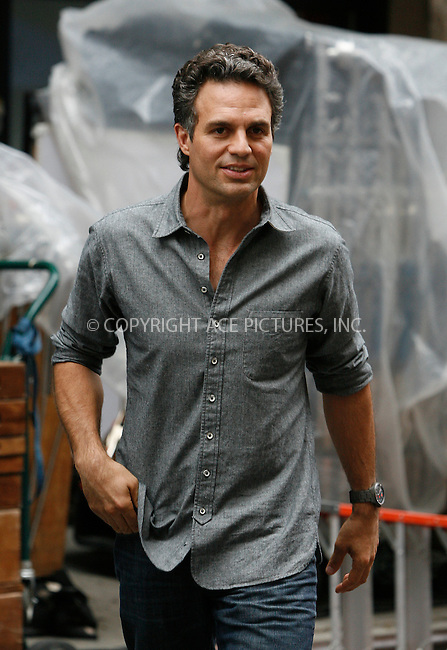 WWW.ACEPIXS.COM . . . . .  ....October 13 2011, New York City....Mark Ruffalo on the set of ;Thanks for Sharing' on October 13 2011 in New York City....Please byline: CURTIS MEANS - ACE PICTURES.... *** ***..Ace Pictures, Inc:  ..Philip Vaughan (212) 243-8787 or (646) 679 0430..e-mail: info@acepixs.com..web: http://www.acepixs.com