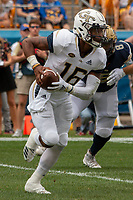 Georgia Tech Yellow Jackets quarterback TaQuon Marshall. The Pitt Panthers football team defeated the Georgia Tech Yellow Jackets 24-19 on September 15, 2018 at Heinz Field in Pittsburgh, Pennsylvania.