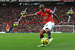 Ashley Young of Manchester United strikes at goal - Manchester United vs. Sunderland - Barclay's Premier League - Old Trafford - Manchester - 28/02/2015 Pic Philip Oldham/Sportimage