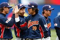 Ryoji Aikawa of Japan during World Baseball Championship at Angel Stadium in Anaheim,California on March 12, 2006. Photo by Larry Goren/Four Seam Images