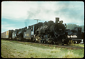 D&amp;RGW #480 is helper on standard gauge freight south of Alamosa.<br /> D&amp;RGW  Alamosa, CO
