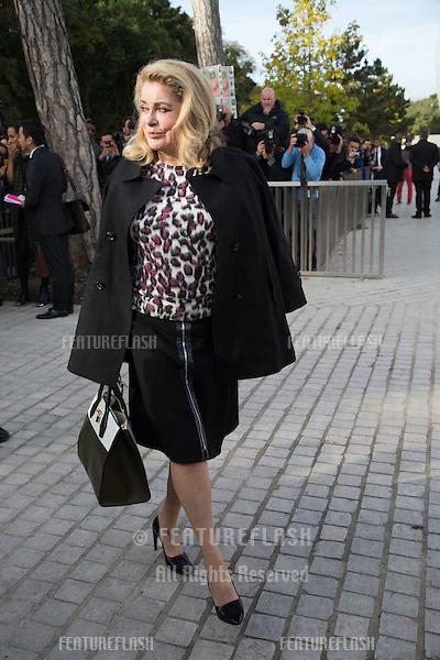 Catherine Deneuve attend Louis Vuitton Show Front Row - Paris Fashion Week  2016.<br /> October 7, 2015 Paris, France<br /> Picture: Kristina Afanasyeva / Featureflash