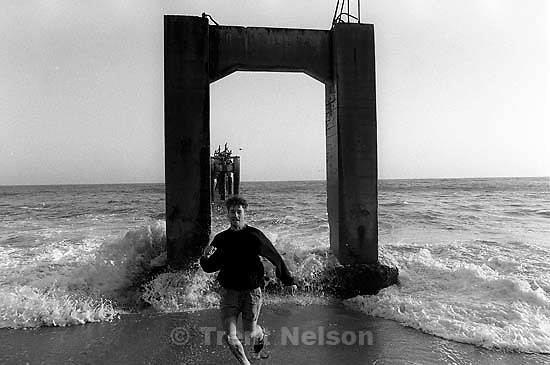 Trent Nelson on Pier Beach.<br />