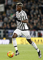 Calcio, Serie A: Juventus vs Milan. Torino, Juventus Stadium, 21 novembre 2015. <br /> Juventus&rsquo; Paul Pogba in action during the Italian Serie A football match between Juventus and AC Milan at Turin's Juventus stadium, 21 November 2015. Juventus won 1-0.<br /> UPDATE IMAGES PRESS/Isabella Bonotto