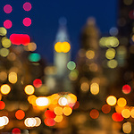 Impressionistic view of downtown Philadelphia.