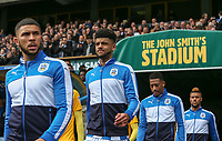 Huddersfield Town players take to the field<br /> <br /> Photographer Alex Dodd/CameraSport<br /> <br /> The EFL Sky Bet Championship - Huddersfield Town v Preston North End - Friday 14th April 2016 - The John Smith's Stadium - Huddersfield<br /> <br /> World Copyright &copy; 2017 CameraSport. All rights reserved. 43 Linden Ave. Countesthorpe. Leicester. England. LE8 5PG - Tel: +44 (0) 116 277 4147 - admin@camerasport.com - www.camerasport.com