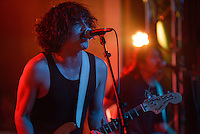 "Turquoise Boy singer/guitarist Derek Mangrobang performs during the release party for the band's first album ""24 Hours a Night"" at Williwaw. Photo by James R. Evans"