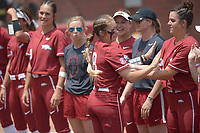 NWA Democrat-Gazette/ANDY SHUPE<br /> Arkansas Wichita State Saturday, May 19, 2018, during the inning at Bogle Park during the NCAA Fayetteville Softball Regional on the university campus in Fayetteville. Visit nwadg.com/photos to see more photographs from the game.