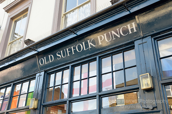 Old Suffolk Punch pub in Hammersmith, London, UK.