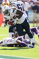 09/11/11 San Diego, CA: San Diego Chargers running back Mike Tolbert #35 during an NFL game played at Qualcomm Stadium between the San Diego Chargers and the Minnesota Vikings. The Chargers defeated the Vikings 24-17.