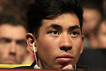 Caleb Ewan (AUS) at the Tour de France 2020 route presentation held in the Palais des Congrès de Paris (Porte Maillot), Paris, France. 15th October 2019.<br /> Picture: Eoin Clarke | Cyclefile<br /> <br /> All photos usage must carry mandatory copyright credit (© Cyclefile | Eoin Clarke)