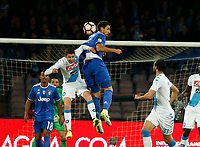 Sami Kheidera  and Leandrinho during the  italian serie a soccer match,between SSC Napoli and Juventus       at  the San  Paolo   stadium in Naples  Italy , April 02, 2017