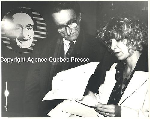 Claude Ryan durant la course a la chefferie du PLQ en 1978 (date exacte inconnue)<br /> <br /> <br /> <br /> PHOTO :  Agence Quebec Presse