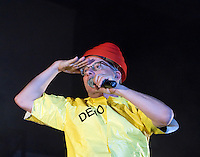 Devo performing at Festival Hall, Melbourne, 31 July 2008