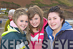 Laura Keane, Leone Kelliher and Bebhann Coleman Killorglin at the releasing of two seals at Rossbeigh beach on Saturday.
