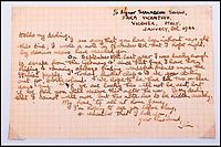 BNPS.co.uk (01202 558833)Pic: C&amp;TAuctions/BNPS<br /> <br /> A letter from Lieutenant James Riccomini MBE to his wife Jane.<br /> <br /> The remarkable story of an SAS hero who escaped captivity by jumping out of a moving train and carried out daring raids behind enemy lines before he was killed storming a German stronghold can be told after his bravery medals emerged for sale.<br /> <br /> After escaping his German captors, Lieutenant James Riccomini MBE spent four months assisting Italian resistance fighters with ammunition drops and intelligence gathering before scaling the Alps to reach neutral Switzerland when his cover was blown.<br /> <br /> Ten months later, he was dropped behind enemy lines and led a fearless ambush of a German armoured column before he was killed in action heading up an assault during the legendary Operation Tombola.<br /> <br /> His MBE, Military Cross and other medals along with letters he wrote to his wife, documents and photos are tipped to sell for &pound;12,000.