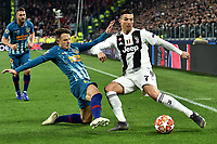 Santiago Arias of Atletico Madrid and Cristiano Ronaldo of Juventus compete for the ball during the Uefa Champions League 2018/2019 round of 16 second leg football match between Juventus and Atletico Madrid at Juventus stadium, Turin, March, 12, 2019 <br />  Foto Andrea Staccioli / Insidefoto