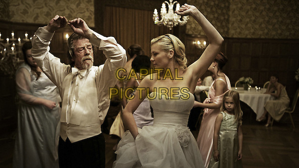 John Hurt as Dexter <br /> Kirsten Dunst as Justine<br /> Melancholia (2011) <br /> *Filmstill - Editorial Use Only*<br /> CAP/PLF<br /> Supplied by Capital Pictures