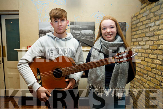 Duo Cathal Fitzgibbons of Tralee and Isabell Lynch of Derrymore at the audition for Britains Got Talent at the Ashe Hotel on Monday last.
