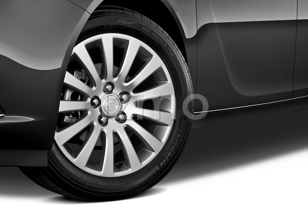 Tire and wheel close up detail view of a 2011 Buick Regal CXL Sedan