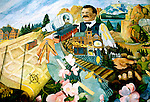 Montana: Boseman, mural,  Photo: mtbose104.Photo copyright Lee Foster, www.fostertravel.com, 510/549-2202, lee@fostertravel.com