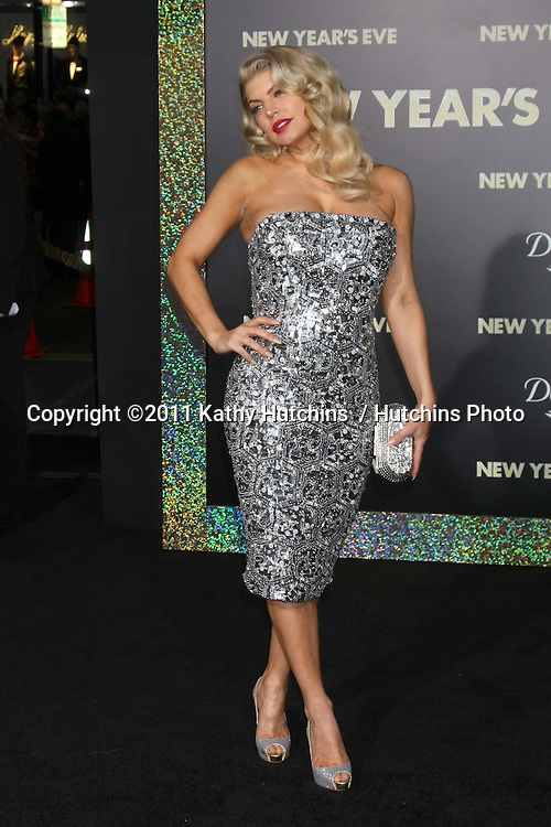"LOS ANGELES - DEC 5:  Fergie aka Stacy Ferguson arrives at the ""New Year's Eve"" World Premiere at Graumans Chinese Theater on December 5, 2011 in Los Angeles, CA"