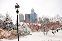 Charlotte NC after a January snowstorm.