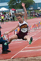 Kelly's Samantha Ratledge placed 5th in the Class 2 girls long jump with a best of 16-7, and 10th in the triple jump with a best of 33-1.75