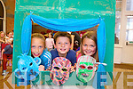 Rachel Kilgallen, Rian Costello and Sarah Costello Reidy enjoying getting creative during the Make A Play summer camp in Collis Sans House last week.
