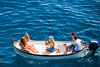 Photo shoot, boat, Cinque Terre, italy