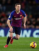 2nd February 2019, Camp Nou, Barcelona, Spain; La Liga football, Barcelona versus Valencia; Thomas Vermaelen of FC Barcelona control the ball
