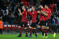 Southampton players applaud their fans after Tottenham Hotspur vs Southampton, Premier League Football at Wembley Stadium on 5th December 2018