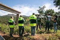 BRUMADINHO, MG, 01.02.2019: ROMPIMENTO DA BARRAGEM EM BRUMADINHO. IBAMA e INSTITUTO ESTADUAL DE FLORESTAS, IEF fazem fiscalizacao no local do rompimento da barragem da Mineradora Vale, em Corrego do Feijao-Brumadinho, região metropolina de Belo Horizonte, MG, na manhã desta sexta feira (01) (foto Giazi Cavalcante/Codigo19)