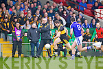 Daithi Casey of Dr Crokes and Cillian Duggan of Cratloe in the AIB Munster Senior Football Final played last Sunday in The Gaelic Grounds, Limerick.