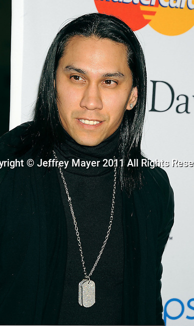 BEVERLY HILLS, CA - FEBRUARY 12: Taboo of Black Eyed Peas arrives at the 2011 Pre-GRAMMY Gala and Salute To Industry Icons Honoring David Geffen at The Beverly Hilton Hotel on February 12, 2011 in Beverly Hills, California.