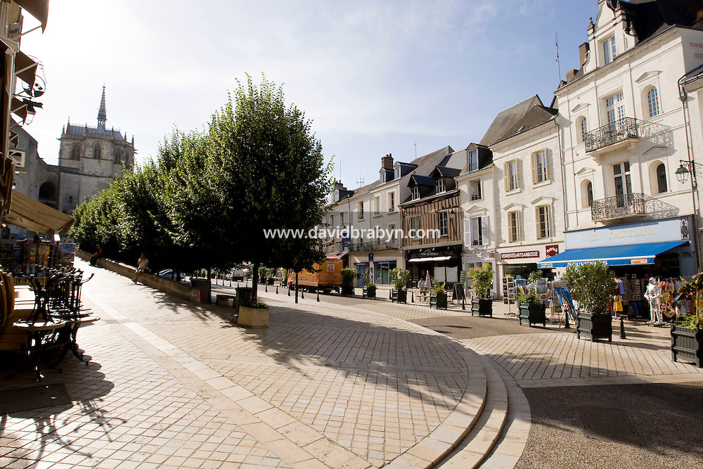 View of the rue du Chateau in Amboise, France, 26 June 2008.