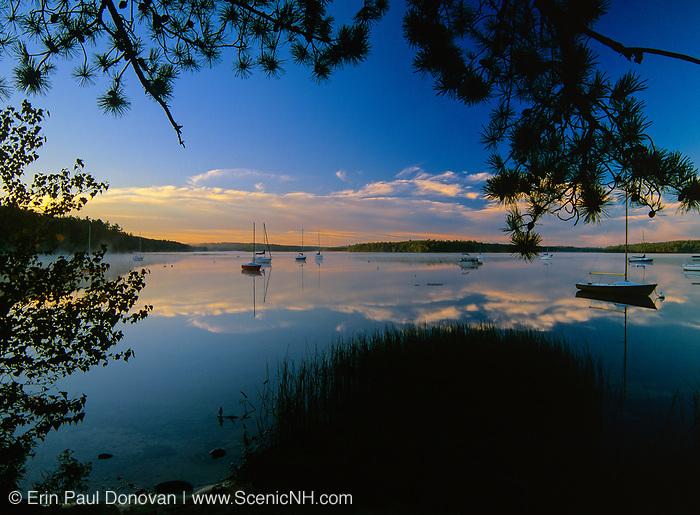 Lake Massabesic in Auburn, New Hampshire USA.