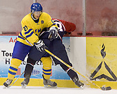 Bjorn Svensson (Saskatoon Blades), Chris Butler (University of Denver - Buffalo Sabres)  The US Blue team lost to Sweden 3-2 in a shootout as part of the 2005 Summer Hockey Challenge at the National Junior (U-20) Evaluation Camp in the 1980 rink at Lake Placid, NY on Saturday, August 13, 2005.