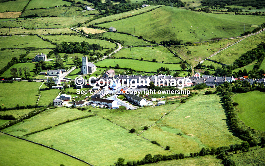 Aerial photograph, Ballintra, Co Donegal, Rep of Ireland, 19790163..Copyright Image from Victor Patterson, 54 Dorchester Park, Belfast, UK, BT9 6RJ..Tel: +44 28 9066 1296.Mob: +44 7802 353836.Voicemail +44 20 8816 7153.Skype: victorpattersonbelfast.Email: victorpatterson@me.com.Email: victorpatterson@ireland.com (back-up)..IMPORTANT: If you wish to use this image or any other of my images please go to www.victorpatterson.com and click on the Terms & Conditions. Then contact me by email or phone with the reference number(s) of the image(s) concerned.