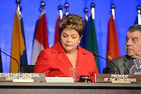 RIO DE JANEIRO-20/06/2012-Presidenta Dilma Roussef abre nesta quarta feira o Segmento de Alto Nivel com a presenca dos Chefes de Estado, no Rio Centro, Barra da Tijuca, zona oeste do Rio.Foto:Marcelo Fonseca-Brazil Photo Press