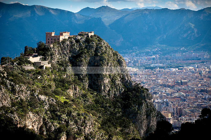 City of Palermo from Mount Pellegrino, Sicily, Italy