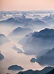 Breaksea Sound. Fiordland National Park. New Zealand. Vertical Format.